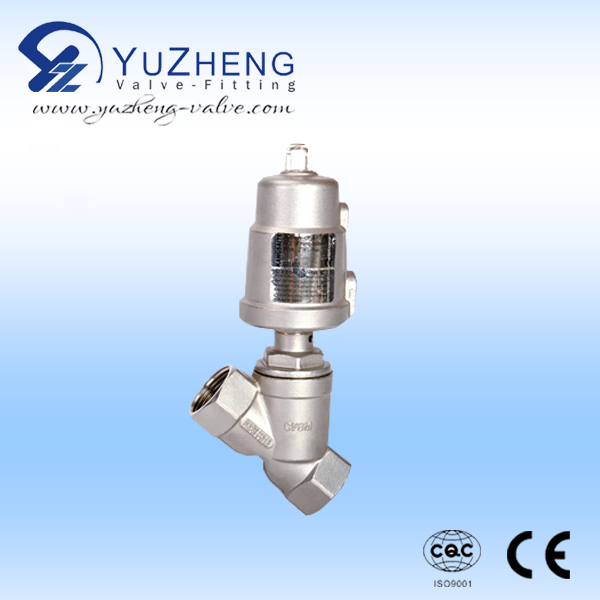 3 WAY ANGLE SEAT VALVE WITH STAINLESS STEEL ACTUATOR