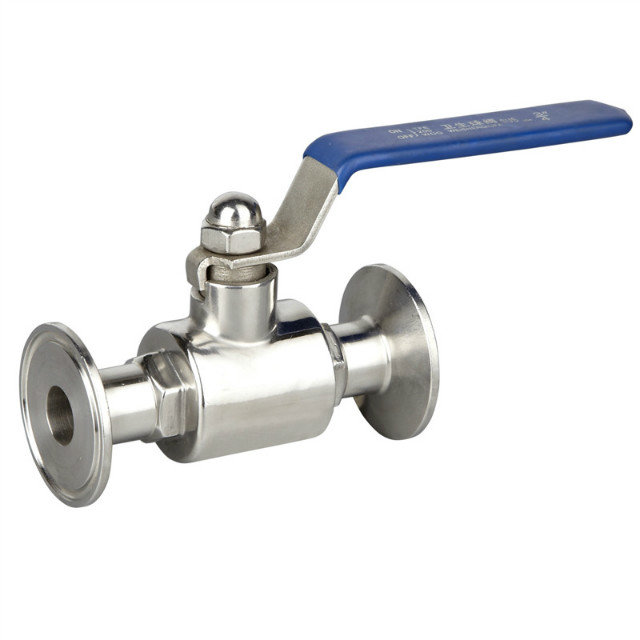 Sanitary Stainless Steel 2PC Ball Valve Clamp End