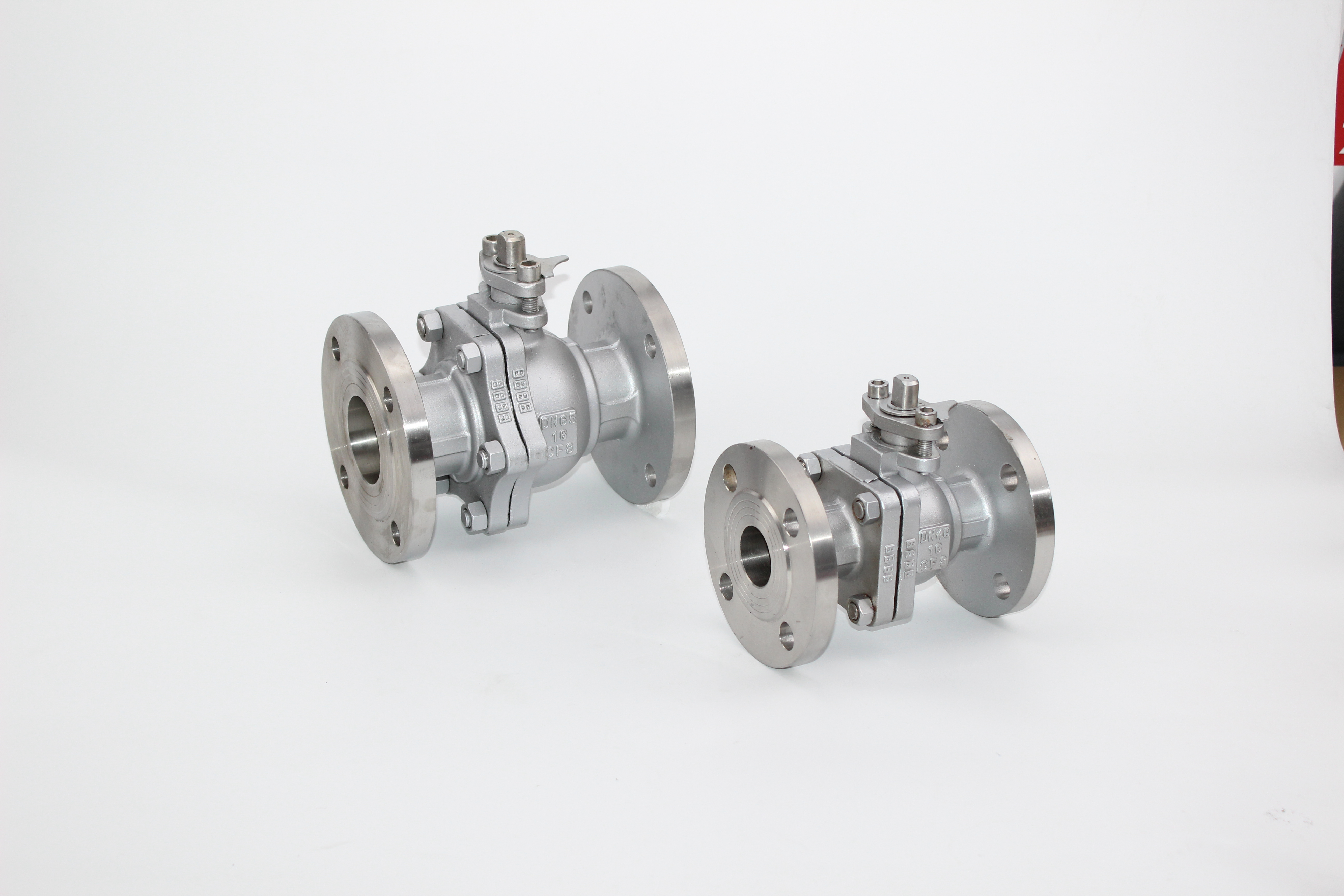 Industrial 2PC Stainless Steel Flanged Ball Valve