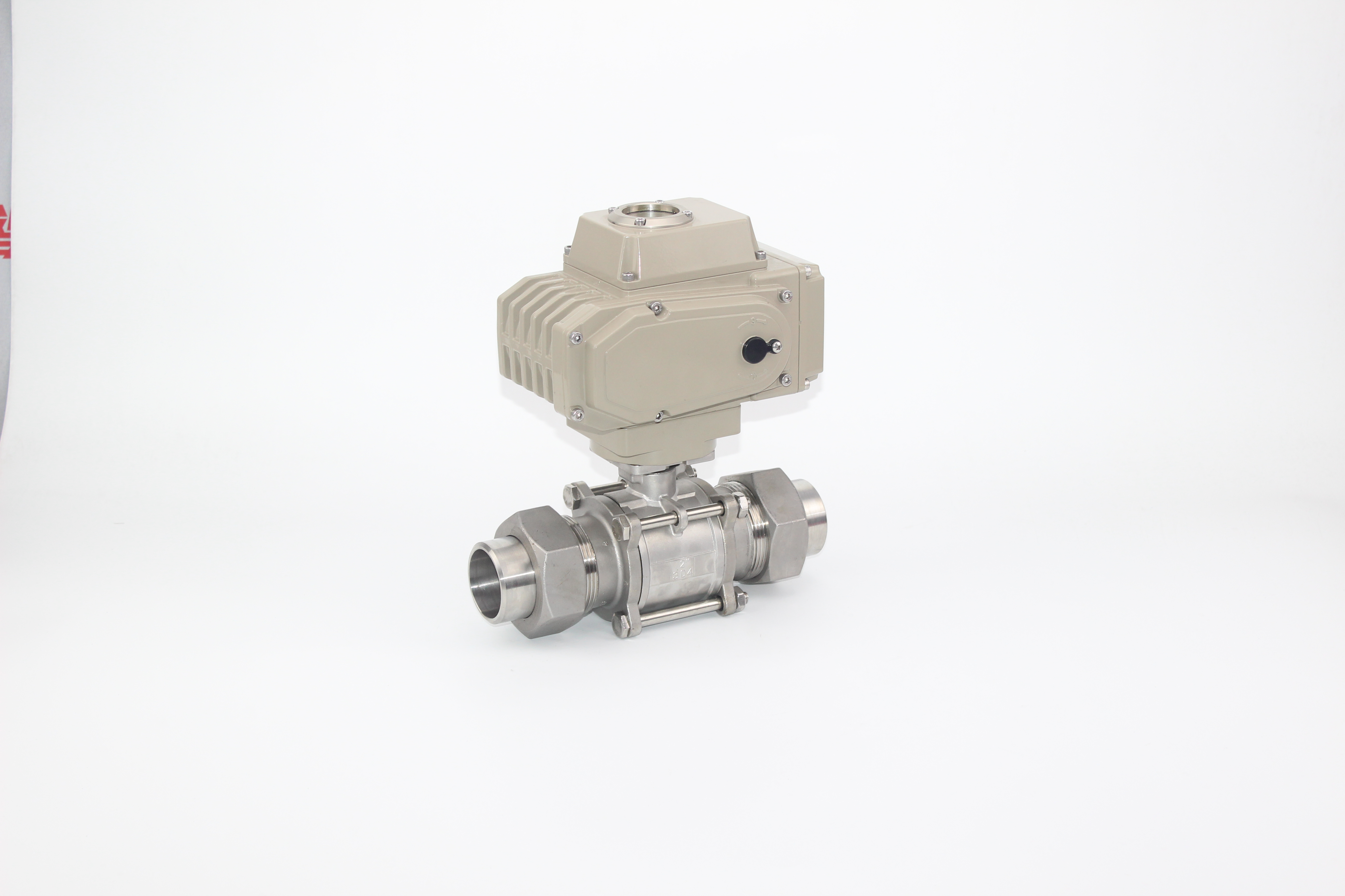 3PC Stainless Steel Thread Ball Valve With Union With Actuator