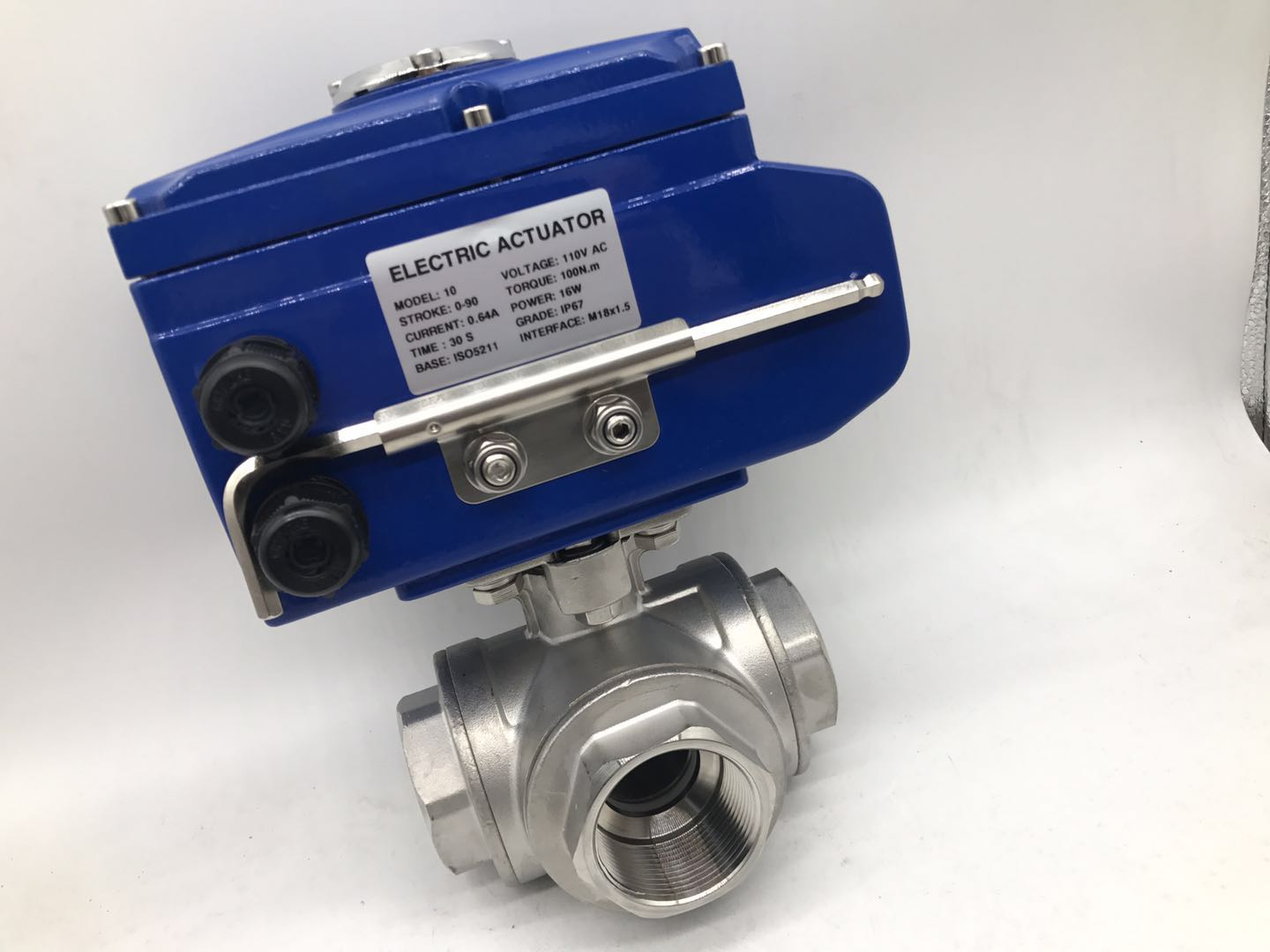 Stainless Steel 3Way Ball Valve With Electric Actuator