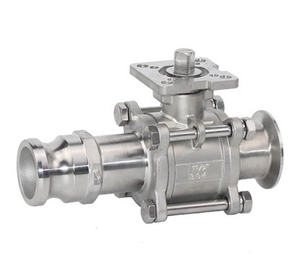 3PC Stainless Steel Quick Joint Clamp Ball Valve With Pad