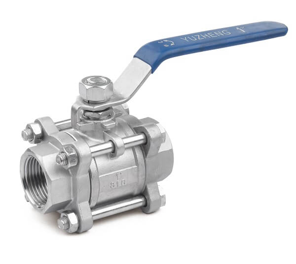 DN20 Industry Stainless Steel 3PC Ball Valve