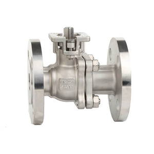 JIS Stainless Steel Flange Ball Valve With ISO5211 Mounting Pad