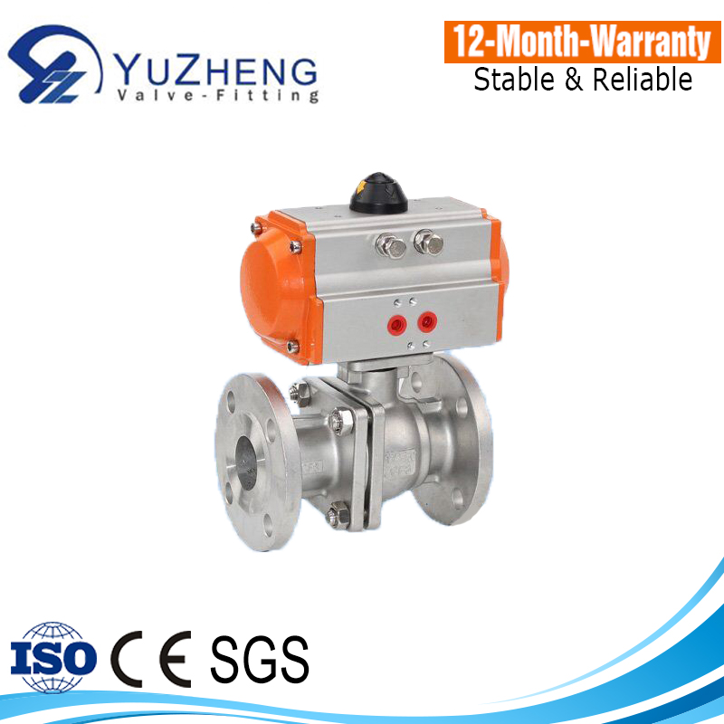 2PC Ball Valve With Pneumatic Actuator