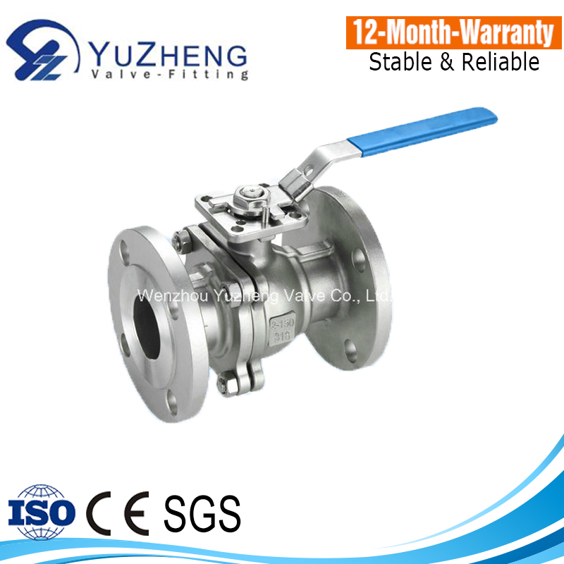 2PC Stainless Steel Flange Ball Valve